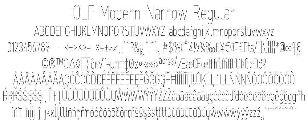OLF Modern Narrow Regular