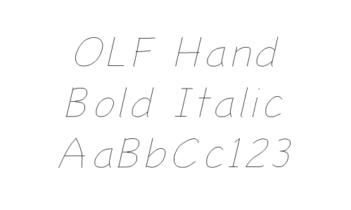 Hand : OneLineFonts, The source for single line fonts