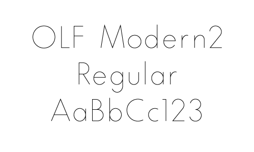 OLF Modern 2 Regular