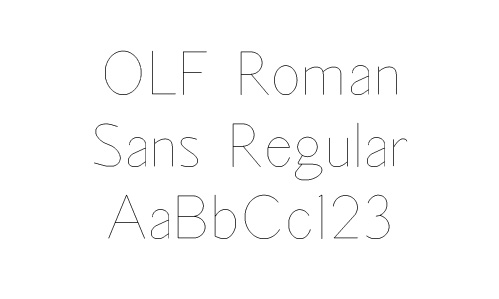 OLF Roman Sans Regular