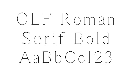 OLF Roman Serif Bold - $12 50 : OneLineFonts, The source for