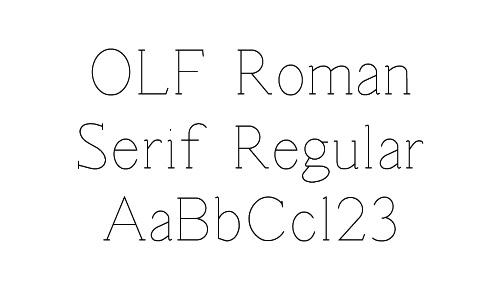 OLF Roman Serif Regular