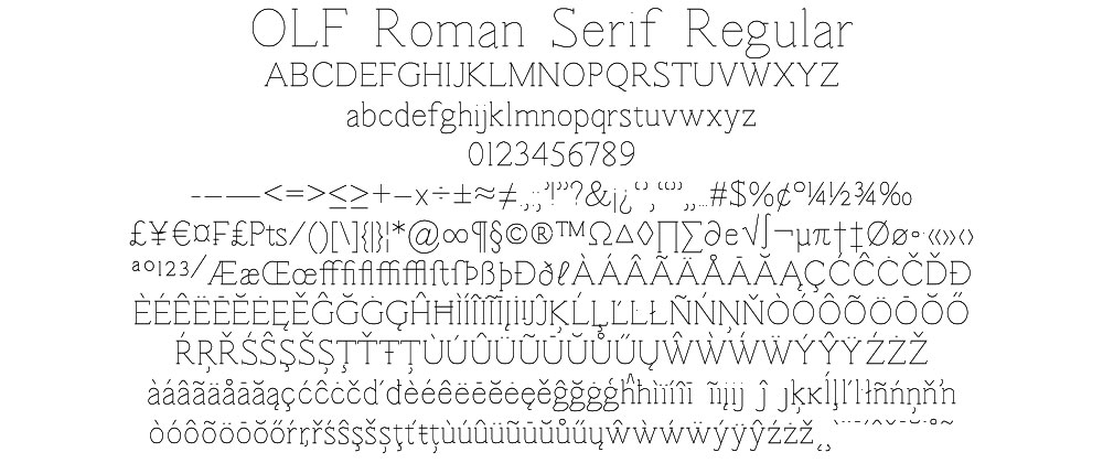 OLF Roman Serif Regular - $12.50 : OneLineFonts, The ...