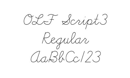 OLF Hand Script Single Line Fonts
