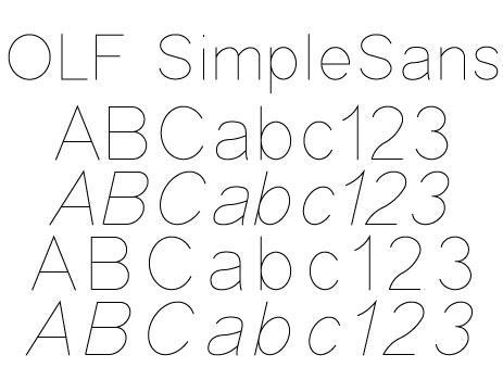 OLF Simple Sans Regular + Cyrillic, Greek, & Hebrew OLF Simple Sans