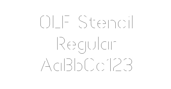 OLF Stencil - $12.50 : OneLineFonts, The source for single