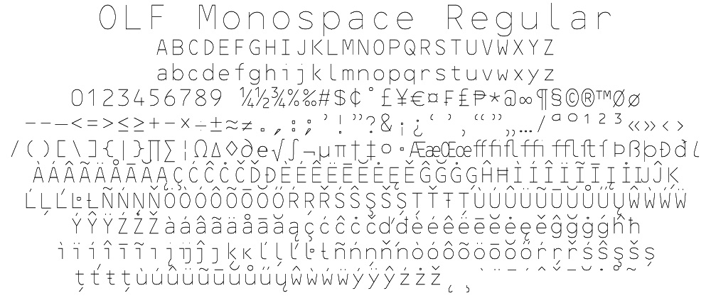 OLF Monospace Regular