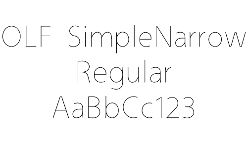 Simple Narrow Regular