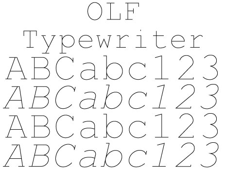 OLF Typewriter Family