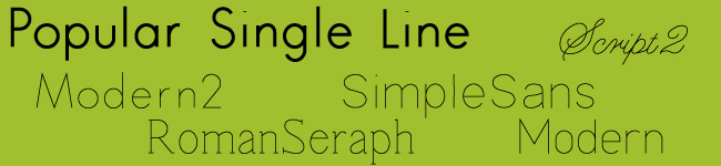Popular Single Line Font Bundle